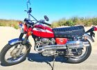 1970 Honda CB  1970 Honda 350 red
