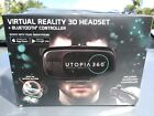 ReTrak - Utopia 360° Virtual Reality Headset with Bluetooth Controller in hand