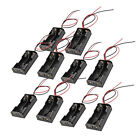 10X Plastic Battery Storage Case Clip Holder Box With Wire Lead For 2A Battery