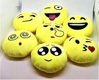 "Emoji Keychain Plush Yellow 3"" Pillow Small 12 Different Variations"