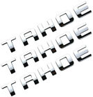 3pcs Chrome TAHOE Nameplate Emblems Plastic Letter for Chevrolet Chrome