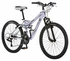 Mongoose R3577 Girl's Maxim Full Suspension Bicycle 24-Inch