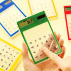 Ultra-slim Clear Portable Solar Touch Screen Calculator Office School Gadget