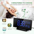 "Mpow 6.5""/3.75"" Curved-Screen Digital Alarm Clock Temperature Kid Christmas Gift"