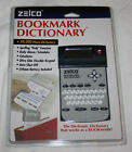 Zelco Bookmark Dictionary Calculator Alarm Scheduler Graphite  FREE US Shipping