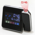 Digital LED Projector Projection Alarm Clock Weather Thermometer Calendar Gift