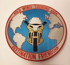 """Gold Wing Motorcycle 12"""" Patch"""