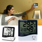 Electronic LCD Digital Thermometer Hygrometer Humidity Meter Clock Indoor Decor