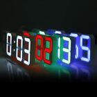 Famirosa 3D LED Digital Alarm Clock w/ Snooze Function 24 / 12 Dual Time Modes