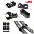12Pcs AN10 19mm Hose Separator Clamp Braided Hose Fitting Adapter Bracket AN -10