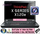 "✔ Lenovo Thinkpad x120e E-350 11.6"" ULTRA-portable NETBOOK laptop + NEW battery"