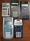 Lot of 5 Scientific Calculators, Mixed Models, Texas Instruments FREE SHIP!!