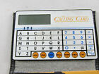 VTG INTERNATIONNAL TELISIS THE CALLING CARD POCKET CALCULATOR - INSTRUCTIONS