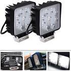 2pcs For Arctic Cat Square 27W ATV Car Truck LED Work Light Bar SUV Lamp 12V 24V