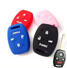 FOR HONDA ACCORD CIVIC KEYLESS SILICONE CAR KEY FOB COVER CASE 4 BUTTON