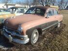 1951 FORD SHOEBOX CRESTLINER ORGINAL CAR PARTS RESTORE IOWA 51 2 DR FLATHEAD V8