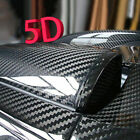 "12"" x 60"" Premium 5D HIGH GLOSS Black Carbon Fiber Vinyl Bubble Free Air Release"