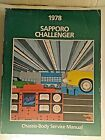 1978 SAPPORO CHALLENGER CHASSIS-BODY SERVICE MANUAL