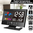 Projection Digital Alarm Clock Snooze Weather Thermometer Lcd Color Display PL