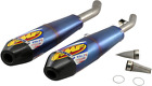 FMF Racing 41575 Factory 4.1 RCT Slip-On Dual - Titanium w/ Carbon Fiber End Cap