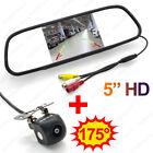 5 Inch Digital TFT LCD Car Mirror Monitor with 175 degree Rear view Camera