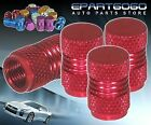 ALUMINUM RED ANODIZED WHEEL VALVE STEM VALVE CAPS FOR TOYOTA TIRES/RIMS
