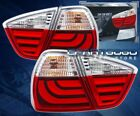 05-08 Bmw 3-Series E90 4Dr Replacement LED Brake Tail Lights Lamps Set Clear Red