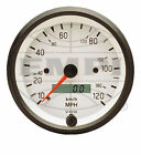 VW BUG AIR COOLED, VDO WHITE COCKPIT SPEEDOMETER ,120 MPH, 3-1/8  437201