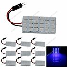 10pcs Blue 24 SMD 5050 LED Festoon Dome/Door/Box Light Panel Interior Bulb J006