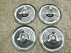 SET OF 1963-64 MERCURY 15 INCH SPINNER HUBCAPS RARE