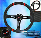 """FOR TOYOTA 6BOLT 350MM 3.5"""" DEEP DISH STEERING WHEEL CARBON FIBER PVC LEATHER RD"""