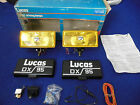 NOS Lucas PR Amber Rectangular Fog Lamps FT LR 22 DX95 Jaguar Rolls MG TR Mini