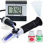 SALINITY REFRACTOMETER + DIGITAL pH METER AQUARIUM
