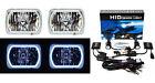 "7X6"" White SMD LED Halo Angel Eye Headlight 6000K 6K Xenon HID Light Bulb Pair"