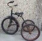 Vintage Trike Tricycle 20 inch Spring Seat Semi Pneumatic Tires Used
