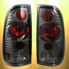 FORD F150 F250 F350 SMOKE LENS CHROME ALTEZZA TAIL LIGHTS DIRECT FIT PAIR