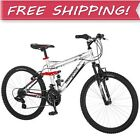 """NEW 24"""" INCH BOYS MOUNTAIN BIKE Kids Youth Bicycle Outdoor 10 Years & Up Silver"""