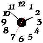 New Creative DIY Modern Time Interior Decor Room Numbers Wall Clock Black