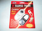 SWISS TECH CARABINER MICRO LIGHT KEYCHAIN SURVIVAL EMERGENCY 2PACK