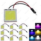 10X Car 24 Chips COB LED Panel Interior Light T10 Festoon Adapter ZJ304