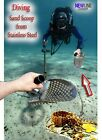 NEW Sand Scoop  & Diving Tool from Stainless Steel +Extra Handle  Metal Detector