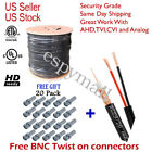 RG59 BLACK 1000FT BULK SIAMESE CABLE 20AWG+18/2 CCTV SECURITY CAMERA WIRE