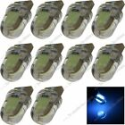 10X Ice Blue T10 168 10 Chips COB LED Silicone Dome Bulbs Tail Rear Light 20405