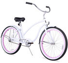 "26"" Oversize Beach Cruiser Bike W/Forward Crank Firmstrong Chief Lady  White"