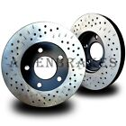 FOR049FDP Ford Ranger RWD 03-2011 2 Front Rotors + Pads Cross Drill&Dimple Slots