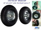 """2 AIR Tires 10"""" Wheels 5/8""""  Dolly Go Cart Golf Cart Try Cycle Harper Hand Truck"""