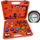 Auto Cooling System Radiator Color Cap Pressure Tester Kit Pump Gauge Adapters