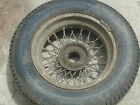"Spoke wire wheel, 15"", British cars, 1960s, with vintage tire"