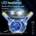 2x H7  160W 16000LM  CREE COB Car LED Headlight Kit Beam Bulbs 6000K High Power