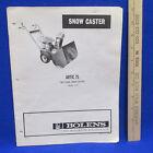 Bolens Artic 75 - 03 Snow Caster Blower Manual Parts Catalog Dealer Instructions